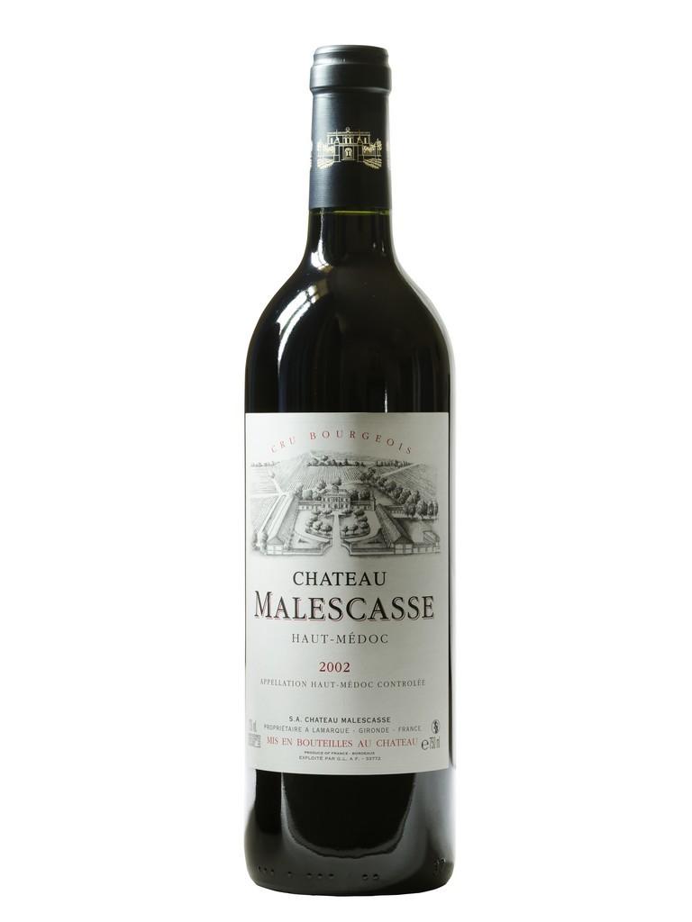Château Malescasse vin rouge millésime 2002