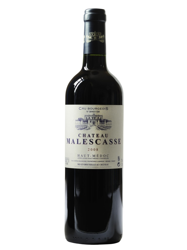 Château Malescasse vin rouge millésime 2008