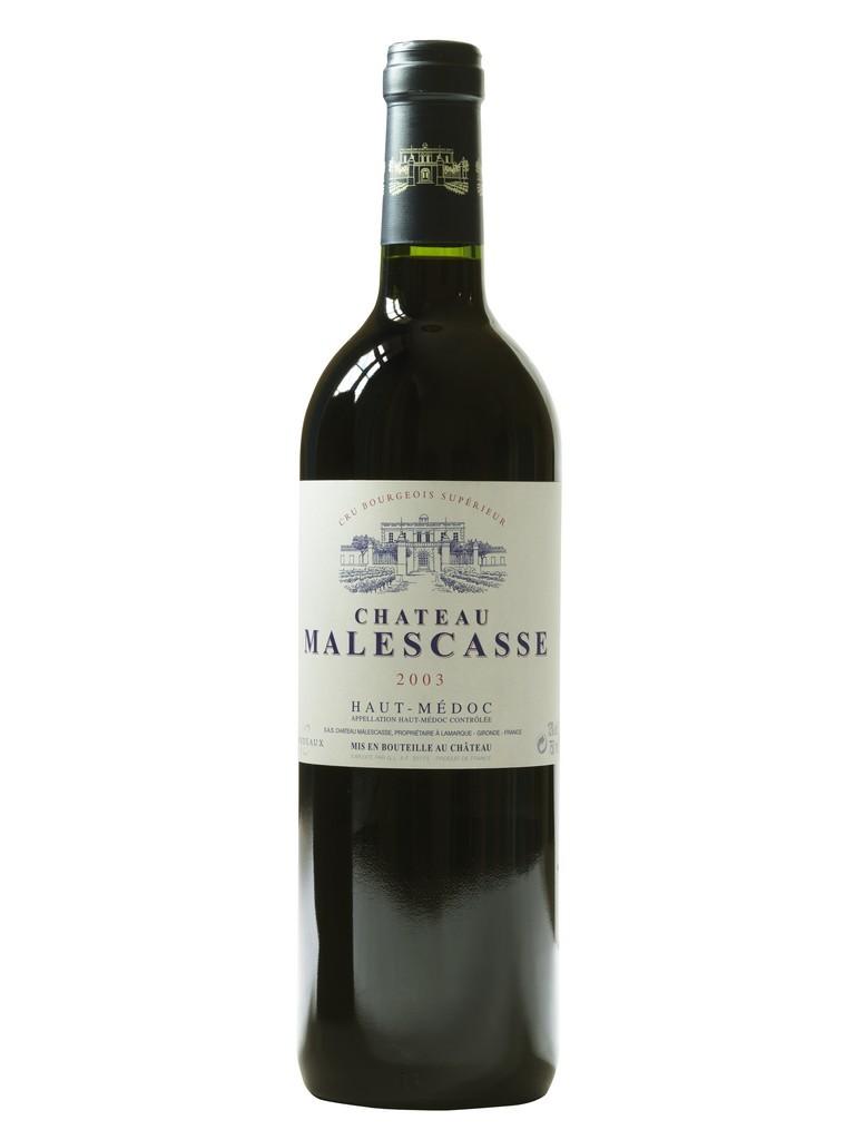 Château Malescasse vin rouge millésime 2003