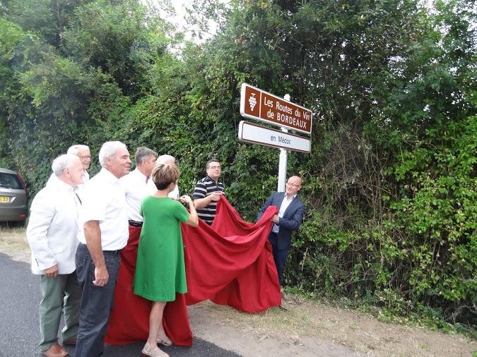 Inauguration panneau Routes du vin de Bordeaux en Médoc 004