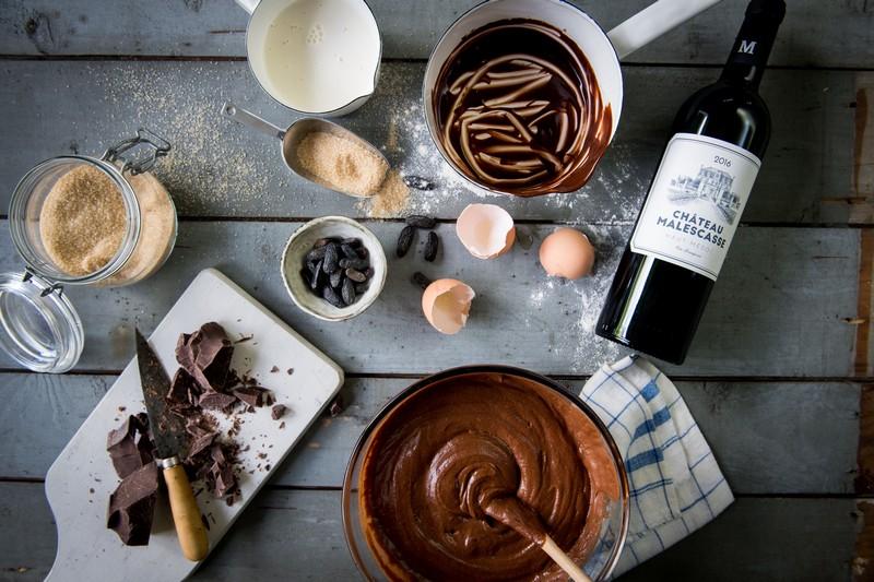 ingrédients et préparation gâteau chocolat