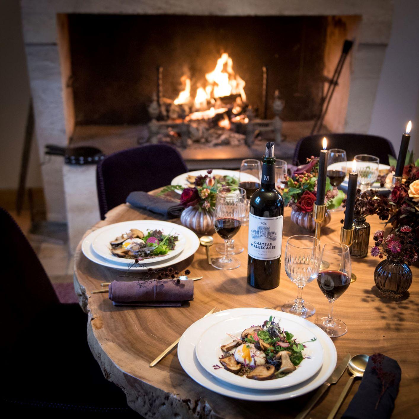 Diner au Château Malescasse - la vie de château